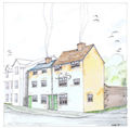 Watercolour impression of the cottages when they are completed